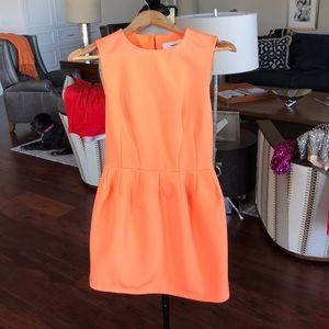 Cameo Mini Dress in Neon Orange